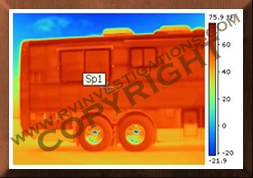 Motor home/RV Infrared Thermography Inner Structual