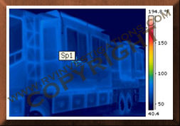Motorhome/RV Infrared Thermography Water/Structural Analysis